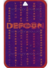 Defcon 11 Vendor Badge.